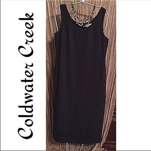LBD Coldwater Creek Dress Classic Black Size 12